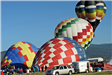 Two Hot Air Balloons Filling with Air