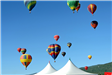 Colorful Hot Air Balloons in the Air