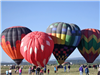 Four Hot Air Balloons Standing