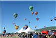 Group of Colorful Hot Air Balloons Rising