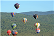 Group of Hot Air Balloons Flying