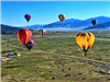 Seven Hot Air Balloons Flying